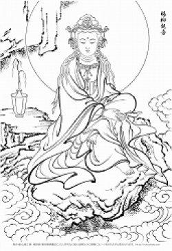 画像1: 2020-40-33身-楊柳観音-1200