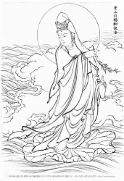 画像1: 2020-55-33身-葉上の楊柳観音-1200
